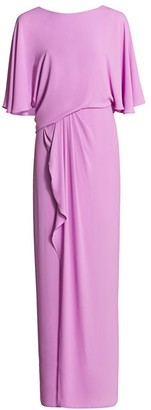 Halston Draped Tulip Gown
