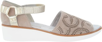 Logo By Lori Goldstein Lori Goldstein Collection Wedge Sandal with Moto Ankle Strap