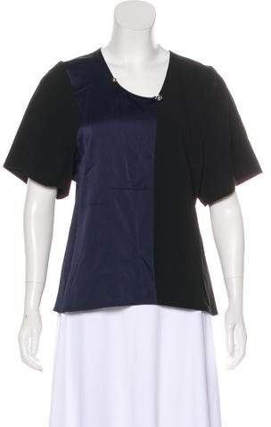 Paco Rabanne Embellished Colorblock Top