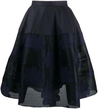 Nina Ricci Pattern-Mix Full Skirt