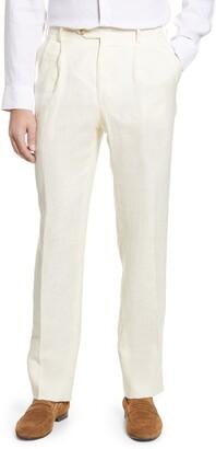 Berle Pleat Front Linen Pants