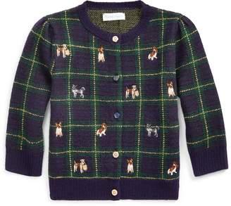 Ralph Lauren Embroidered Wool Cardigan
