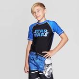 Star Wars Boys' The Force Awakens Rash Guard Swim Shirt -