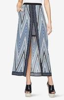 BCBGMAXAZRIA Jane Chevron-Print Maxi Skirt