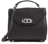 Rebecca Minkoff Top Handle Leather Satchel - Black