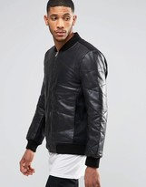 Religion Hawk Padded Leather Jacket