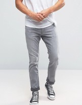 Hollister Skinny Stretch Jeans Grey Wash In Grey