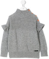 Burberry frill detail top - kids - Cashmere/Wool - 10 yrs