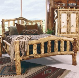 Mountain Woods Furniture Aspen Heirloom Snowload II Queen Platform Bed Mountain Woods Furniture
