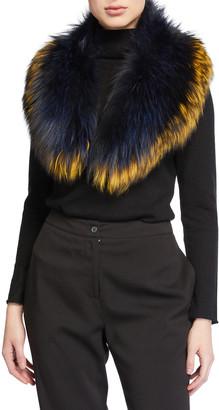 Pologeorgis Fox Fur Collar Scarf