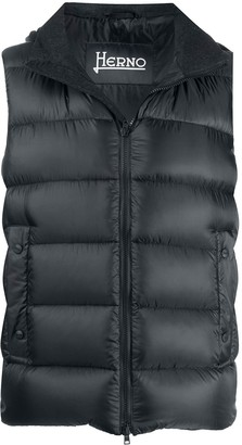 Herno Quilted Hooded Gilet