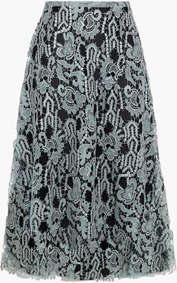 Valentino Metallic Guipure Lace Skirt