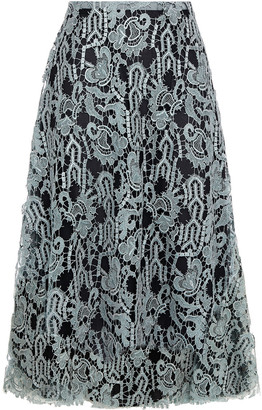 Valentino Metallic Guipure Lace Skirt