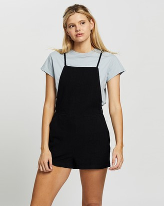 Rusty Women's Black Playsuits - Lovewild Romper - Size One Size, 10 at The Iconic