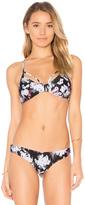 RVCA Floral Fuzz Bikini Top