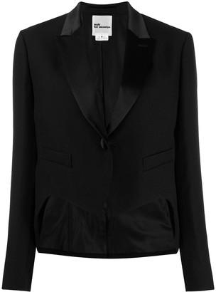 Comme des Garcons cropped single-breasted blazer