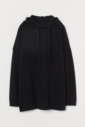 H&M Hooded cashmere jumper
