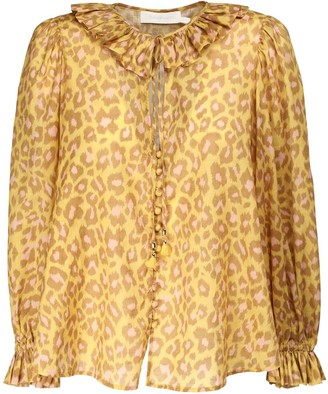 Zimmermann Carnaby Ruffled Cotton Voile Shirt