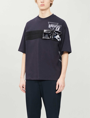 Emporio Armani Pocket-strap relaxed-fit cotton-jersey T-shirt