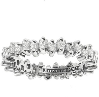 Suzanne Kalan Princess Cut Diamond Thin Eternity Band White Gold Ring
