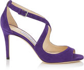 Jimmy Choo EMILY 85 Iris Suede Sandals