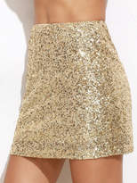 Shein Embroidered Sequin Mini Skirt