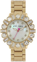 Betsey Johnson Bedazzle Beauty Gold Watch