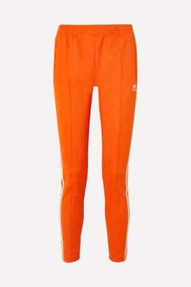 adidas Striped Stretch-jersey Track Pants - Orange