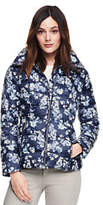 Lands' End Women's Tall Lightweight Down Jacket-Deep Sea Floral