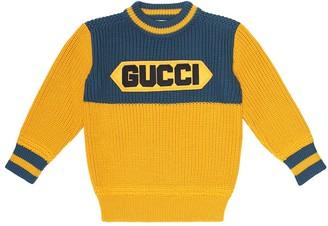 Gucci Kids Logo wool sweater