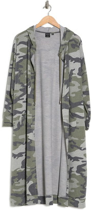 Cyrus Camo Print French Terry Duster Jacket