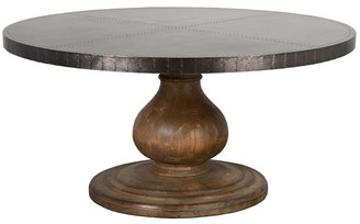 Pottery Barn Keating Metal Top Dining Table