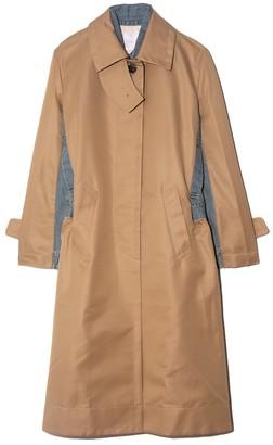 Sacai Cotton Gabardine Coat in Beige