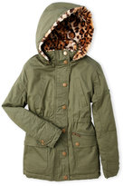 Urban Republic Girls 7-16) Faux Fur-Lined Hooded Anorak