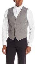 Perry Ellis Men's Herringbone Stripe Suit Vest