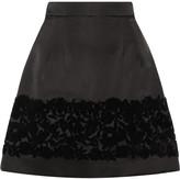 Dolce & Gabbana Flocked silk-blend mini skirt