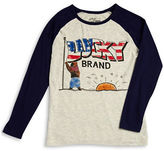 Lucky Brand Boys 8-20 Graphic Raglan Tee