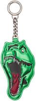 Saint Laurent Green Leather Dino Keychain