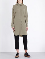 Jil Sander Long stretch-silk shirt