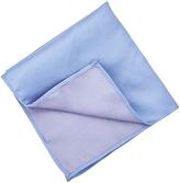 Oxford Pocket Sq Silk Blue