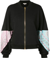 Natasha Zinko paisley panel zip cardigan - women - Cotton - S