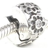 Beads Hunter Clip Stopper Beads Hunter Fashion Jewelry Flower Clip with Clear Cz .925 Sterling Silver Bead Charm Spacer/stopper Fit Pandora Chamilia Biagi & 3mm European Bracelets