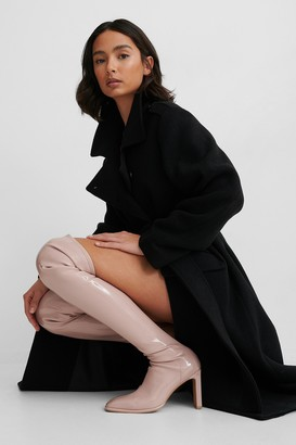 NA-KD Glossy Patent Overknee Boots