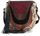 Sam Edelman Sienna Tasseled Leather Saddle Bag
