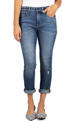KUT from the Kloth Rachael Distressed Cuff Mom Jeans