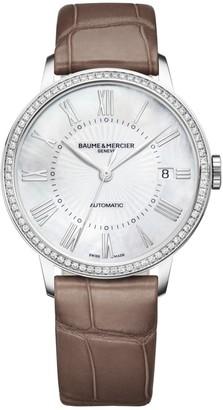 Baume & Mercier Classima Stainless Steel & Alligator Strap Watch