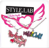 Fashion Angels Purple & Silvertone 'Wild Child' Pendant Necklace Set