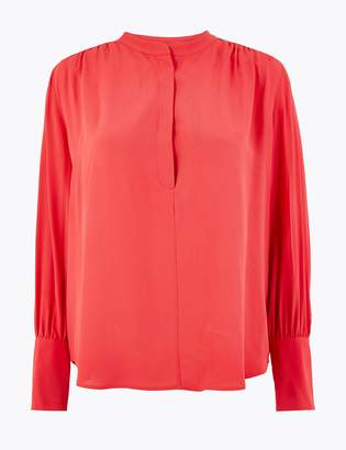 Marks and Spencer Crepe High Neck Blouse