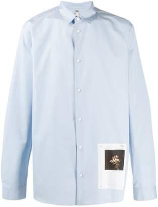 Oamc Andre flower patch shirt