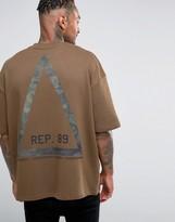 Asos Oversized Sweatshirt With Camo Triangle Print